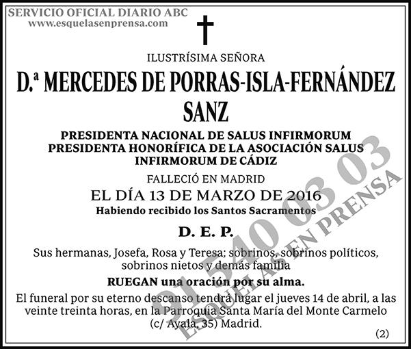 Mercedes de Porras-Isla-Fernández Sanz